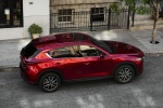 Picture of a 2018 Mazda CX-5 Grand Touring AWD in Soul Red Crystal Metallic from a rear right three-quarter top perspective