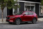Picture of a 2018 Mazda CX-5 Grand Touring AWD in Soul Red Crystal Metallic from a front left three-quarter perspective