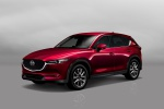Picture of a 2019 Mazda CX-5 Grand Touring AWD in Soul Red Crystal Metallic from a front left three-quarter perspective