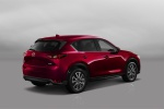 Picture of a 2019 Mazda CX-5 Grand Touring AWD in Soul Red Crystal Metallic from a rear right three-quarter perspective