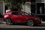 Picture of a 2019 Mazda CX-5 Grand Touring AWD in Soul Red Crystal Metallic from a front right three-quarter perspective
