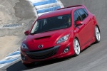2010 Mazdaspeed3 in Velocity Red Mica - Driving Front Left Three-quarter View
