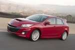 2010 Mazdaspeed3 in Velocity Red Mica - Driving Front Left View