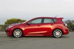 2010 Mazdaspeed3 in Velocity Red Mica - Static Side View