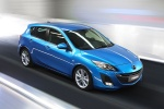 2010 Mazda 3s Hatchback in Celestial Blue Mica - Driving Front Right Three-quarter View