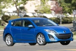 2010 Mazda 3s Hatchback in Celestial Blue Mica - Driving Front Right View