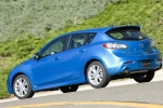 2010 Mazda 3s Hatchback in Celestial Blue Mica - Driving Rear Left View