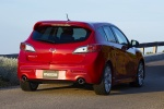 2010 Mazdaspeed3 in Velocity Red Mica - Static Rear Right Three-quarter View