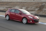2010 Mazdaspeed3 in Velocity Red Mica - Driving Front Right View