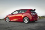 2011 Mazdaspeed3 in Velocity Red Mica - Static Rear Left Three-quarter View