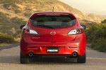 2011 Mazdaspeed3 in Velocity Red Mica - Static Rear View