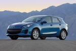 2012 Mazda 3i Hatchback in Sky Blue Mica - Static Front Left Three-quarter View