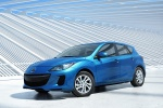 2012 Mazda 3i Hatchback in Sky Blue Mica - Static Front Left View