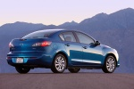 2012 Mazda 3i Sedan in Sky Blue Mica - Static Rear Right Three-quarter View