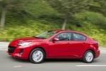 2013 Mazda 3i Sedan in Velocity Red Mica - Driving Left Side View