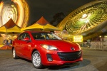 2013 Mazda 3i Sedan in Velocity Red Mica - Static Front Right View