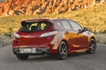 2013 Mazdaspeed3 Hatchback in Velocity Red Mica - Static Rear Right View
