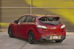 2013 Mazdaspeed3 Hatchback in Velocity Red Mica - Static Rear Left View