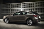 2014 Mazda Mazda3 Hatchback in Meteor Gray Mica - Static Rear Left Three-quarter View