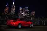 2014 Mazda Mazda3 Sedan in Soul Red Metallic - Static Rear Right Three-quarter View