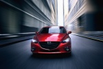 2014 Mazda Mazda3 Sedan in Soul Red Metallic - Driving Frontal View