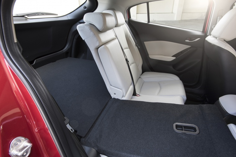 2017 Mazda Mazda3 Grand Touring 5-Door Hatchback Rear Seat Folded Picture