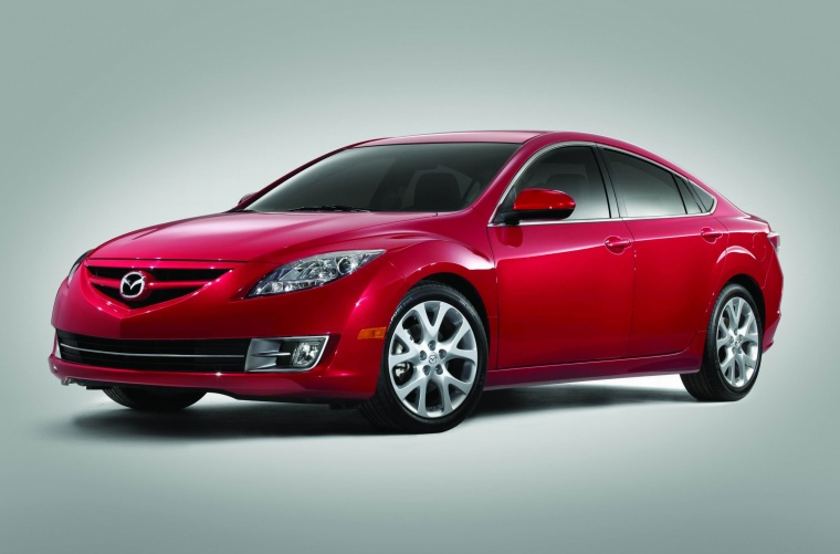 2010 Mazda 6s in Sangria Red Mica from a front left three-quarter view