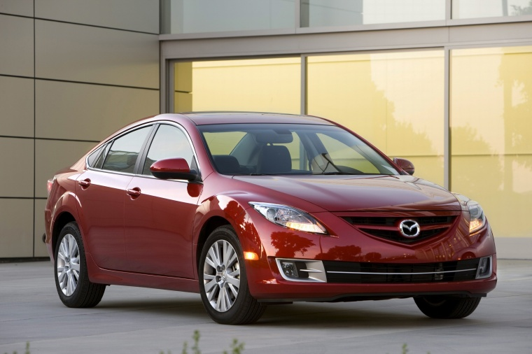 2010 Mazda 6s in Sangria Red Mica from a front right three-quarter view