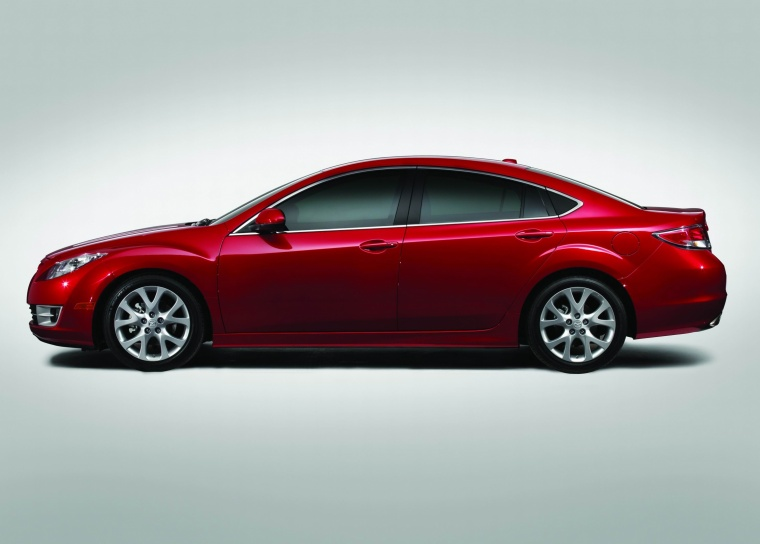 2010 Mazda 6s in Sangria Red Mica from a side view