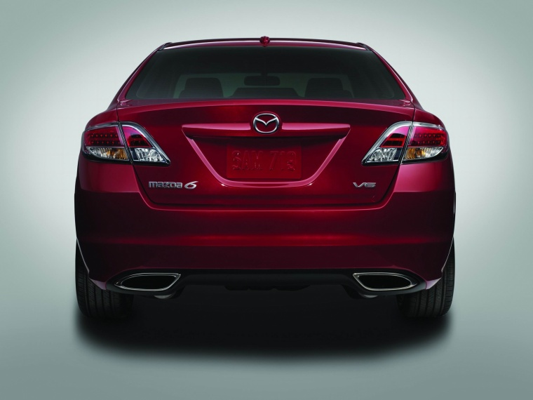 2010 Mazda 6s in Sangria Red Mica from a rear view