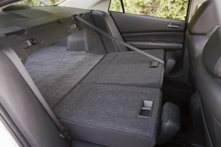 2010 Mazda 6s Rear Seats Folded in Black