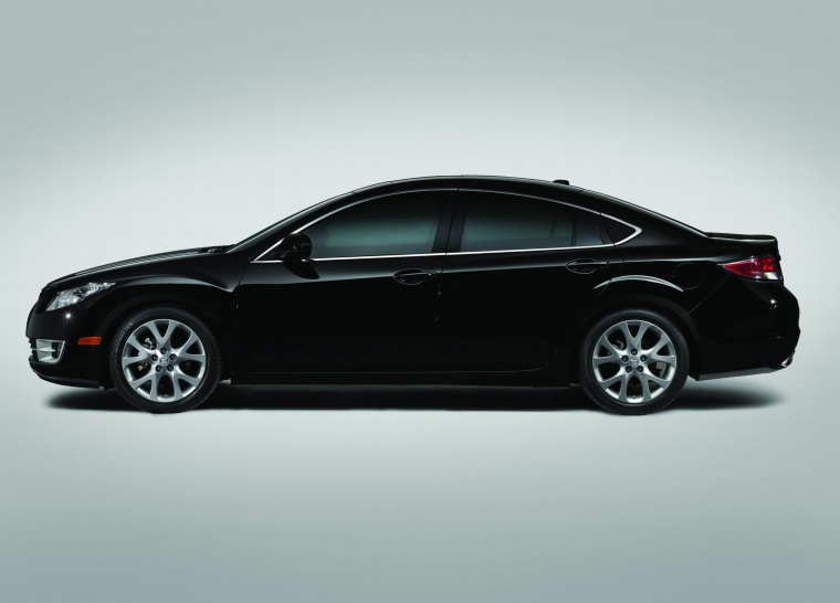 2010 Mazda 6s in Ebony Black from a side view