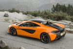 2016 McLaren 570S Coupe in Ventura Orange - Static Rear Left Three-quarter View