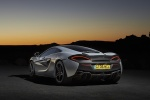 2017 McLaren 570GT Coupe in Ice Silver - Static Rear Left View