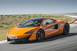 2017 McLaren 570S Coupe in Ventura Orange - Driving Front Left Three-quarter View