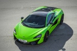 2017 McLaren 570S Coupe in Mantis Green - Static Front Left Three-quarter Top View