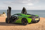 2017 McLaren 570S Coupe in Mantis Green - Static Rear Left Three-quarter View