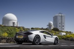 2017 McLaren 570GT Coupe in Pearl White - Static Rear Right Three-quarter View