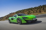 2017 McLaren 570S Coupe in Mantis Green - Driving Front Right Three-quarter View