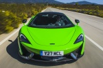 2017 McLaren 570S Coupe in Mantis Green - Driving Frontal View