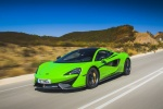 2017 McLaren 570S Coupe in Mantis Green - Driving Front Left Three-quarter View