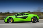2017 McLaren 570S Coupe in Mantis Green - Driving Left Side View