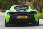 2017 McLaren 570S Coupe in Mantis Green - Driving Rear View