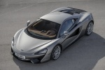 2017 McLaren 570S Coupe in Blade Silver - Static Front Left Three-quarter Top View