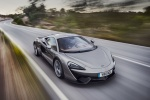 2017 McLaren 570S Coupe in Blade Silver - Driving Front Right View