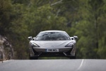 2017 McLaren 570S Coupe in Blade Silver - Driving Frontal View