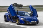 Picture of 2015 McLaren 650S Coupe with doors open in Aurora Blue
