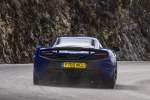 2016 McLaren 650S Coupe in Aurora Blue - Driving Rear View