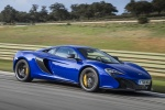 2016 McLaren 650S Coupe in Aurora Blue - Driving Front Right Three-quarter View