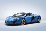 2016 McLaren 650S Spider in Blue - Static Front Left Three-quarter View